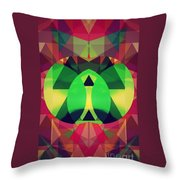 So High On Colors Throw Pillow