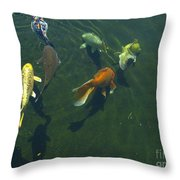 So Koi Throw Pillow