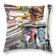So Many Books To Read Throw Pillow