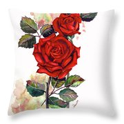 So Red Throw Pillow