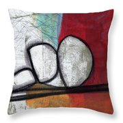 So We Begin- Abstract Art Throw Pillow