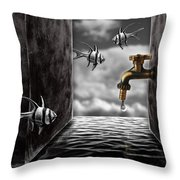 So What...the Water Tank Throw Pillow