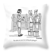 So When Are You Two Taking The Plunge Throw Pillow