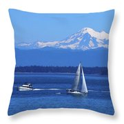 Soaking Up The Beautiful July Weather Throw Pillow