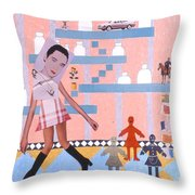 Soap Scene #16 Miracle Maids Throw Pillow