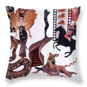 Soap Scene #22 Lust In The Wind Throw Pillow