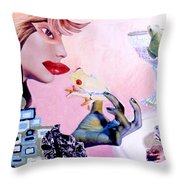 Soap Scene #6 Frogs Legs For Dinner Throw Pillow