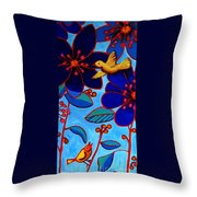 Soaring And Blooming Throw Pillow