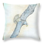 Soaring Eagle Throw Pillow