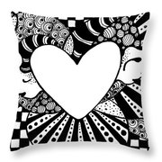 Soaring Heart  Throw Pillow
