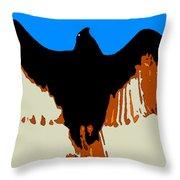 Soaring Raptor Throw Pillow