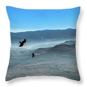 Soaring Ravens Throw Pillow