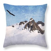 Soaring The Peaks Throw Pillow