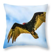 Soaring Vulture Throw Pillow