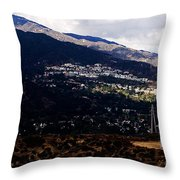 Socal Fire Road Throw Pillow