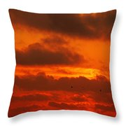 Socal Sunset Throw Pillow