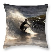 Socal Surfing Throw Pillow
