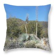 Socal Yucca Throw Pillow