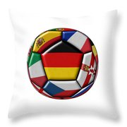 Soccer Ball With Flag Of German In The Center Throw Pillow