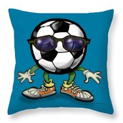 Soccer Cool Throw Pillow
