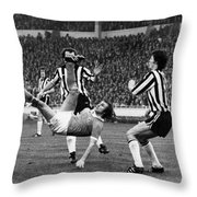 Soccer Match, 1976 Throw Pillow by Granger