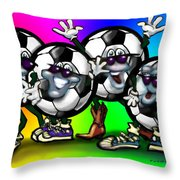 Soccer Party Throw Pillow
