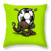 Soccer Saurus Rex Throw Pillow