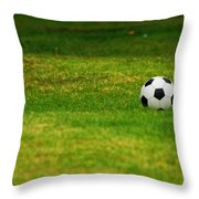 Soccer Season Throw Pillow