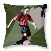 Soccer Style Throw Pillow