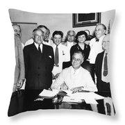 Social Security Act, 1935 Throw Pillow