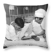 Society Girls Volunteer Time Throw Pillow