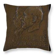 Soci?t? Nationale Des Beaux-arts: Jean-louis Ernest Meissonier And Pierre Puvis De Chavannes [obverse] Throw Pillow