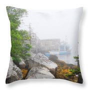 Socked In Throw Pillow