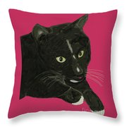 Socks Portrait Throw Pillow