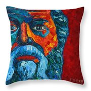 Socrates Look Throw Pillow
