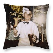 Soda Jerk, 1939 Throw Pillow