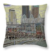 Sodo Tracks Throw Pillow