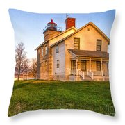Sodus Point Lighthouse And Museum Throw Pillow