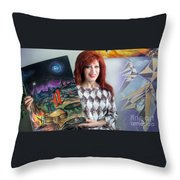 Sofia Goldber - About Mars Civilization. 5 Throw Pillow