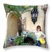 Sofia Goldberg. Sunny Day Throw Pillow