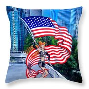 Sofia Metal Queen. Born 4th Of July Throw Pillow