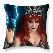 Sofia Metal Queen. Metal Is Lifestyle Throw Pillow