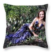 Sofia Of Ameynra. Cybergoth Belly Dancer Throw Pillow