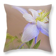 Soft And Lovely Columbine Flower Throw Pillow