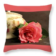 Soft Antique Rose Throw Pillow