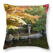 Soft Autumn Pond Throw Pillow