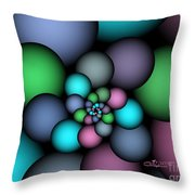 Soft Balloons Throw Pillow