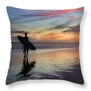 Surfing The Shadows Of Light Throw Pillow