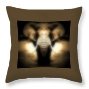 Soft Brown Elephant Throw Pillow