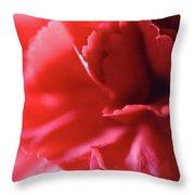 Soft Carnation Petals Throw Pillow